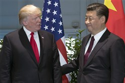U.S. President Donald Trump, left, and Chinese President Xi Jinping