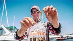 Matt Becker of Finleyville won his first national competition using just one lure, a watermellon/white soft plastic shad and a drop-shot rig.