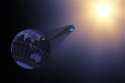 NASA's projection of the August 21 solar eclipse.
