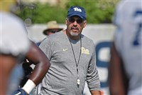 Pitt coach Pat Narduzzi talked freshman cornerbacks and long-snappers Thursday morning before practice on the South Side.