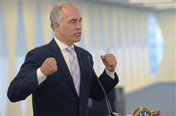 In this 2017 file photo, U.S. Sen. Bob Casey talks about the unfair trade deals during a forum with Pittsburgh labor, environmental and community leaders, at the  United Steel Workers building in Pittsburgh.