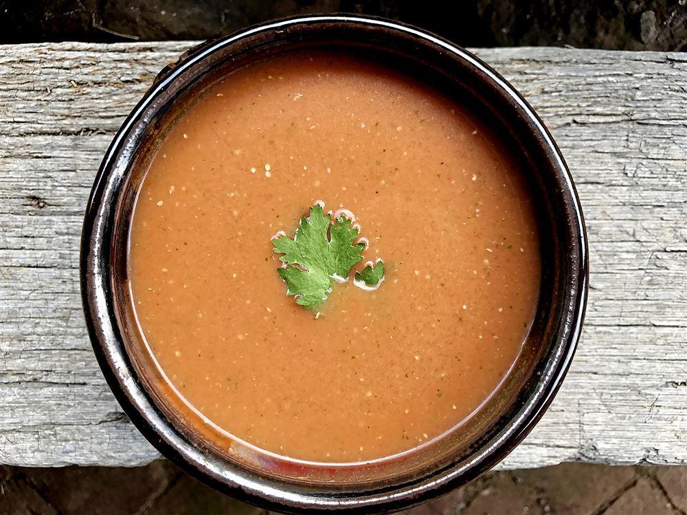 Spicy Tomato & Tomatillo Soup