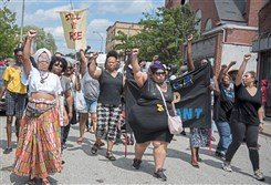 The Black Brilliance Collective March Saturday begins on North Homewood Avenue in Homewood.