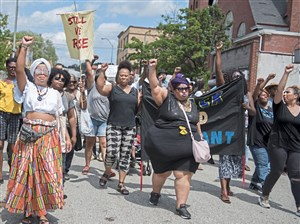 The Black Brilliance Collective March begins on North Homewood Avenue Saturday in Homewood.