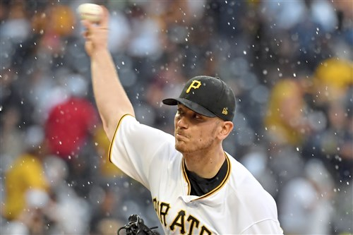 The Pirates' Chad Kuhl pitches against the Cardinals in the first inning Saturday at PNC Park.