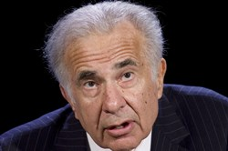 In this 2007 file photo, activist investor Carl Icahn speaks at the World Business Forum in New York.