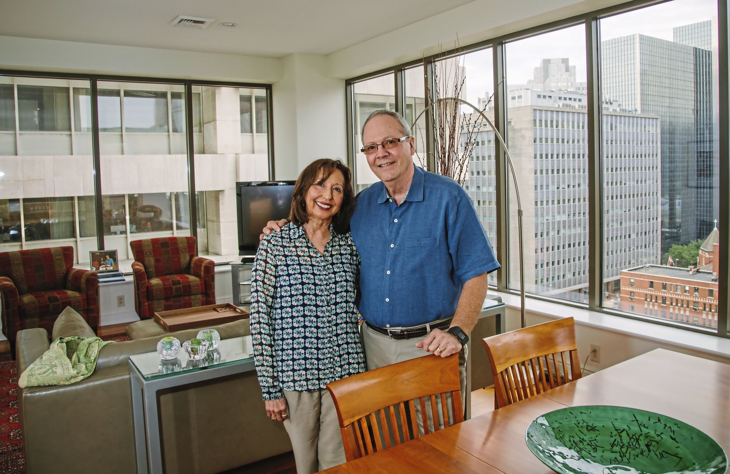 20170810arNextCondo01 Sam and Gracie Harris in their condo unit at First Side condominiums, Downtown..