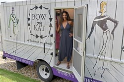 Kat Marryshow Katawczik in her fashion truck, Bow by Kat.