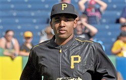 Pirates reliver Angel Sanchez takes part in batting practice Wednesday at PNC Park.