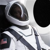 This undated image made available by Elon Musk on Wednesday shows a new spacesuit from his company SpaceX.
