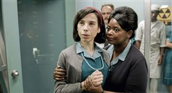 "Sally Hawkins and Octavia Spencer in the film ""The Shape of Water."""