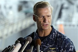 U.S. Navy Vice Adm. Joseph Aucoin, former commander of the U.S. 7th Fleet, was relieved of duty following four separate incidents in the Pacific under his command.