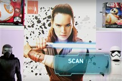 "Use your Star Wars App to scan the ""Find the Force"" logos in stores and unlock new characters in ""Star Wars: The Last Jedi."""