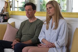 "Ed Helms and Lake Bell in ""I Do...Until I Don't."""