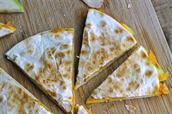 Cheese and Apple Quesadillas.