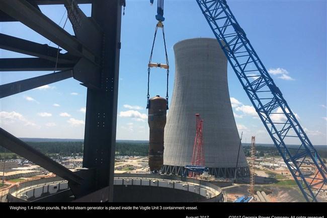 Construction at Plant Vogel near Waynsboro, Georgia in August 2017.