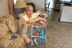 Lawrence DeLisio, 90, at home in Brighton Heights.