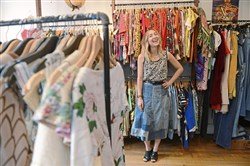 Kate Colussy , owner of Highway Robbery Vintage on the South Side.