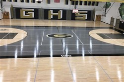 Gateway High School has a gym floor with a vastly different look.
