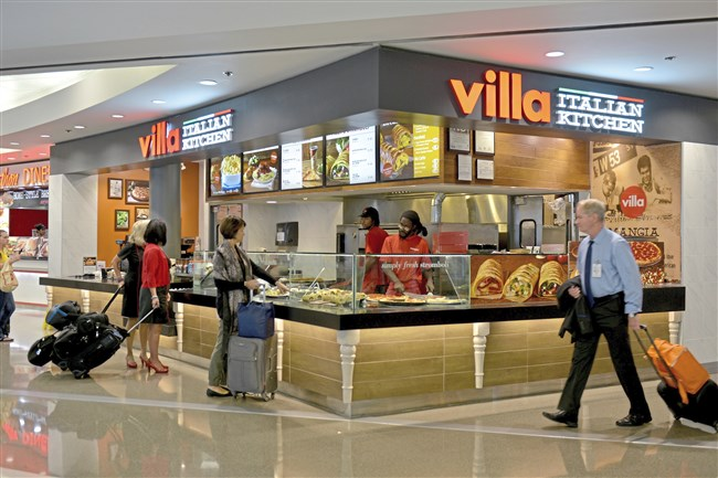 Villa Italian Kitchen, a quick-service restaurant specializing in pizza, pasta and salads located in the main area of the airside terminal known as the center core, was hit with the most critical health violations over a two-year period. It received 13.