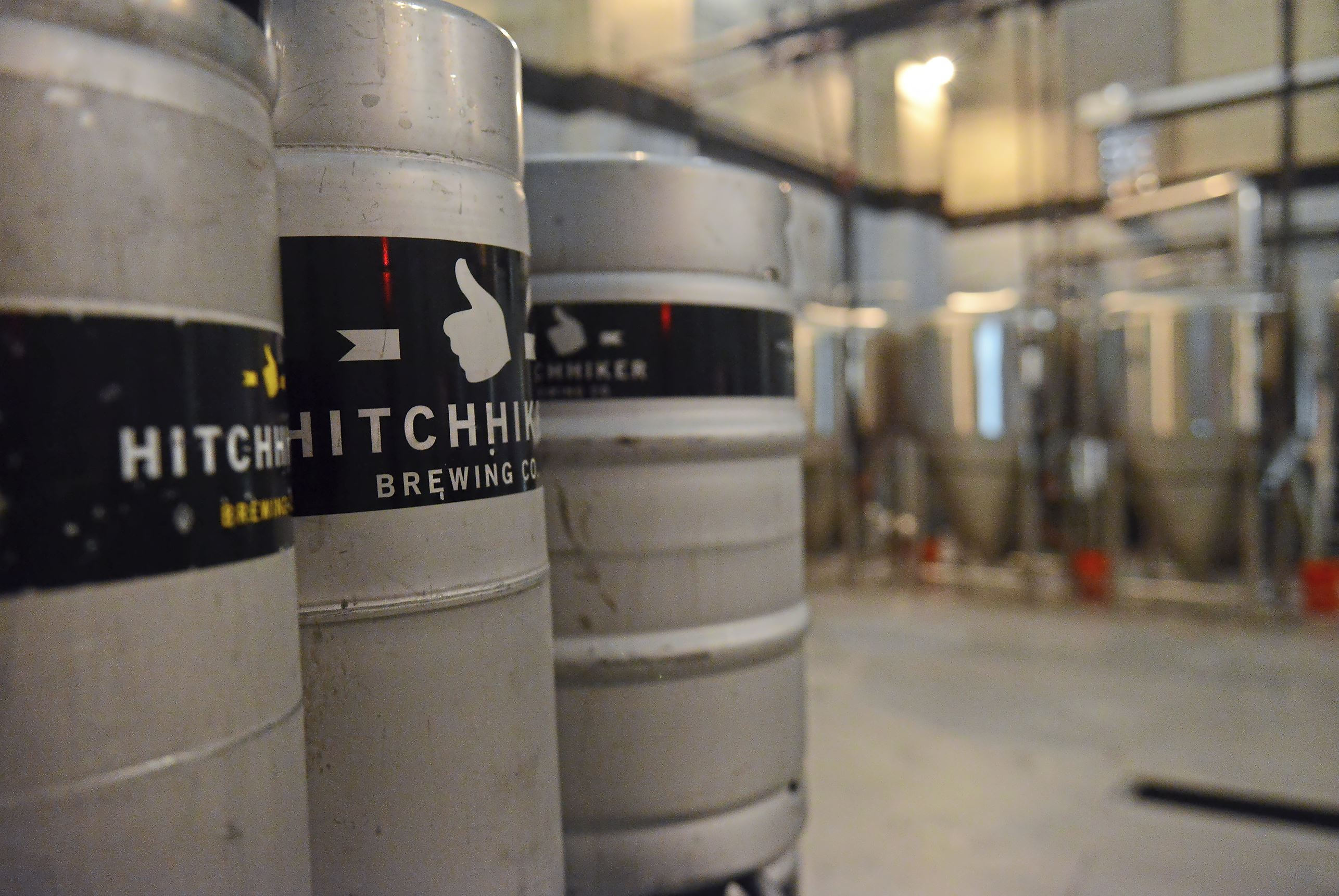 20170906rldHitchhiker02 Kegs stand in the corner of the brewery of Hitchhiker Brewing Company's second location Wednesday in Sharpsburg.