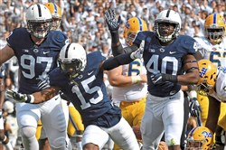 Penn State is an early 14-point favorite for its Sept. 8 meeting with Pitt at Heinz Field.
