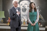 "From ""The Good Place"" episode ""Dance Dance Resolution"" -- Ted Danson as Michael, D'Arcy Carden as Janet."