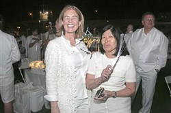 From left: Lois Wholey and Vivien Li.