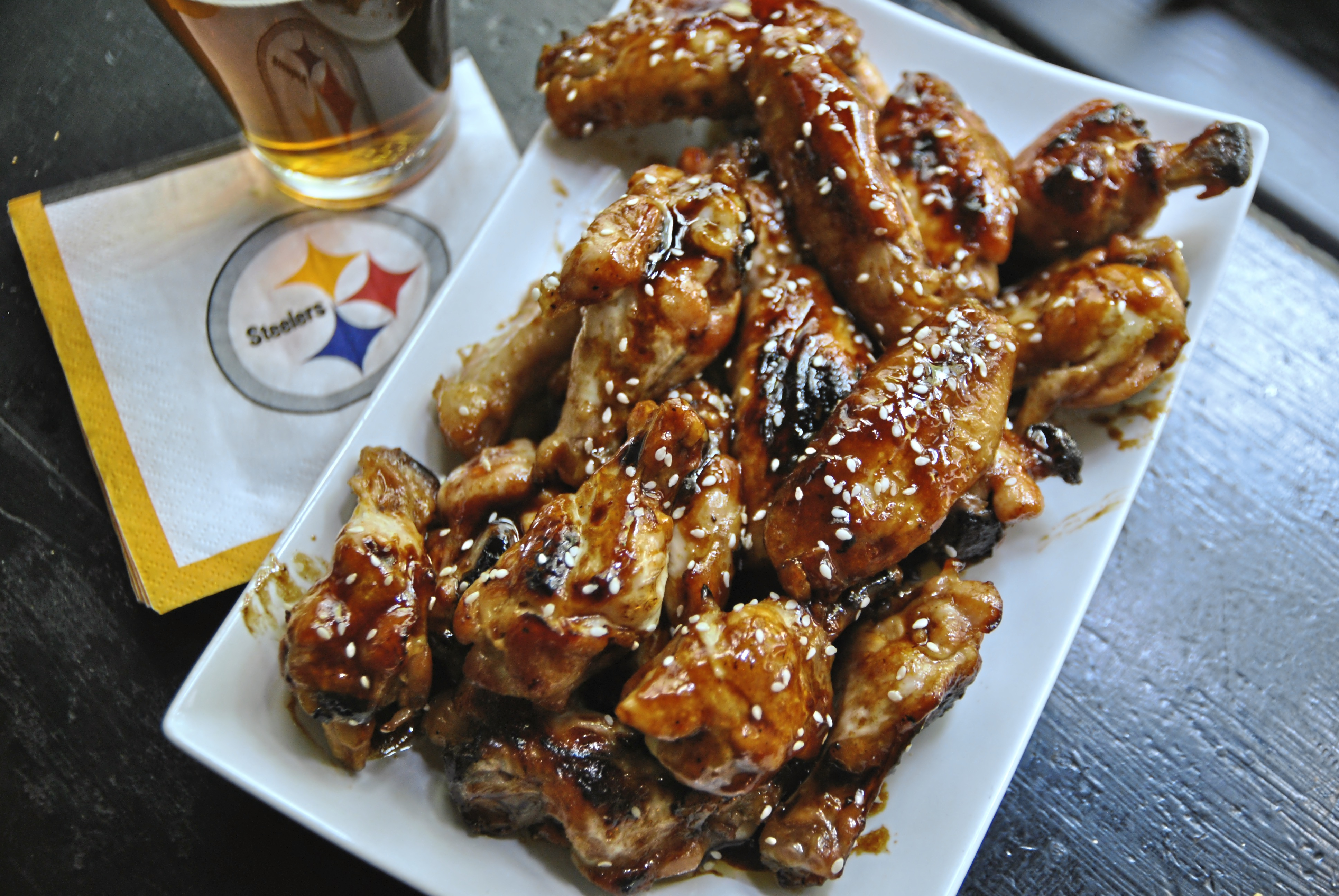 Honey Sriracha wings 2-1 Honey Sriracha Wings with Sesame