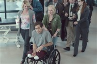 "Helping Jake Gyllenhaal leave the hospital in ""Stronger"" are Patty O'Neil as his aunt and Miranda Richardson, right, as his mother."