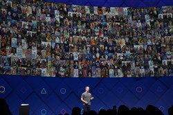 Mark Zuckerberg, Facebook's chief executive, speaks at a conference in San Jose, Calif., on April 18, 2017.