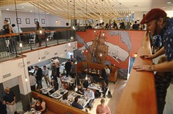 The new Distrikt Hotel restaurant or, The Whale holds a grand opening event Wednesday, September 13, 2017, in Downtown.