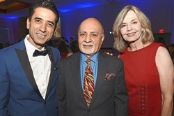 From left Adnan Hilton Pehlivan, Harish Saluja and Sally Wiggin.