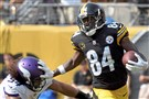Antonio Brown had 62 yards on five receptions Sunday against the Minnesota Vikings.
