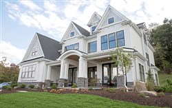 The exterior of the Forest Edge model home at 173 Hope Road in Cranberry Township.