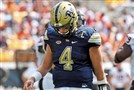Pitt quarterback Max Browne is out for the season with a shoulder injury.