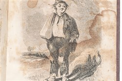 "This image shows ""Old Sug,"" a comic character from an 1847 book, ""Streaks of Squatter Life."" ""Old Sug"" represented a softened version of actual squatters known for brawling, drinking and swearing at political events. The image appears in Nancy Isenberg's book, ""White Trash: The 400-Year Untold History of class in America."""