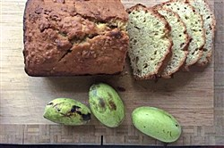 Pawpaw Bread with Toasted Walnuts
