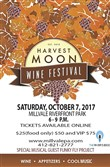 Poster for the Harvest Moon Wine Festival in Millvale.