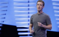 In this April 12, 2016, file photo, Facebook CEO Mark Zuckerberg speaks during the keynote address at the F8 Facebook Developer Conference in San Francisco. Facebook has unwittingly allowed groups backed by the Russian government to target users with ads.