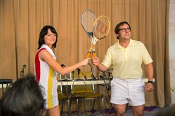 "Battle ready: Emma Stone and Steve Carell in ""Battle of the Sexes."""