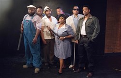 "The cast of ""East Texas Hot Links,"" Sam Lothard, Monteze Freeland, Kevin Brown, Cheryl El-Walker, Chuck Timbers, Les Howard and Jonathan Berry."