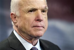 U.S. Sen. John McCain, R-Ariz., after undergoing brain surgery in July.