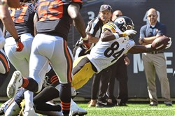 Antonio Brown scores a touchdown against the Bears.