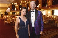 Dr. Vonda Wright and her husband Peter Taglianetti at the season opening gala for the Pittsburgh Opera at the Omni William Penn in Downtown Pittsburgh.