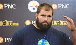 Steelers offensive lineman Alejandro Villanueva talks about the controversy surrounding the national anthem during a press conference on Monday.
