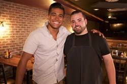 "Jordan Andino and The Yard chef Chris Gilbert on Cooking Channel's ""Late Night Eats."""