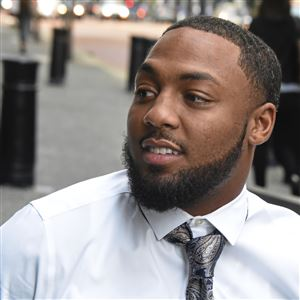 Leon Ford waits to enter federal court in September.