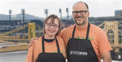 Justin Severino of Cure, and Morcilla, at right, will cook with Abby Molinaro at Tastebuds in November