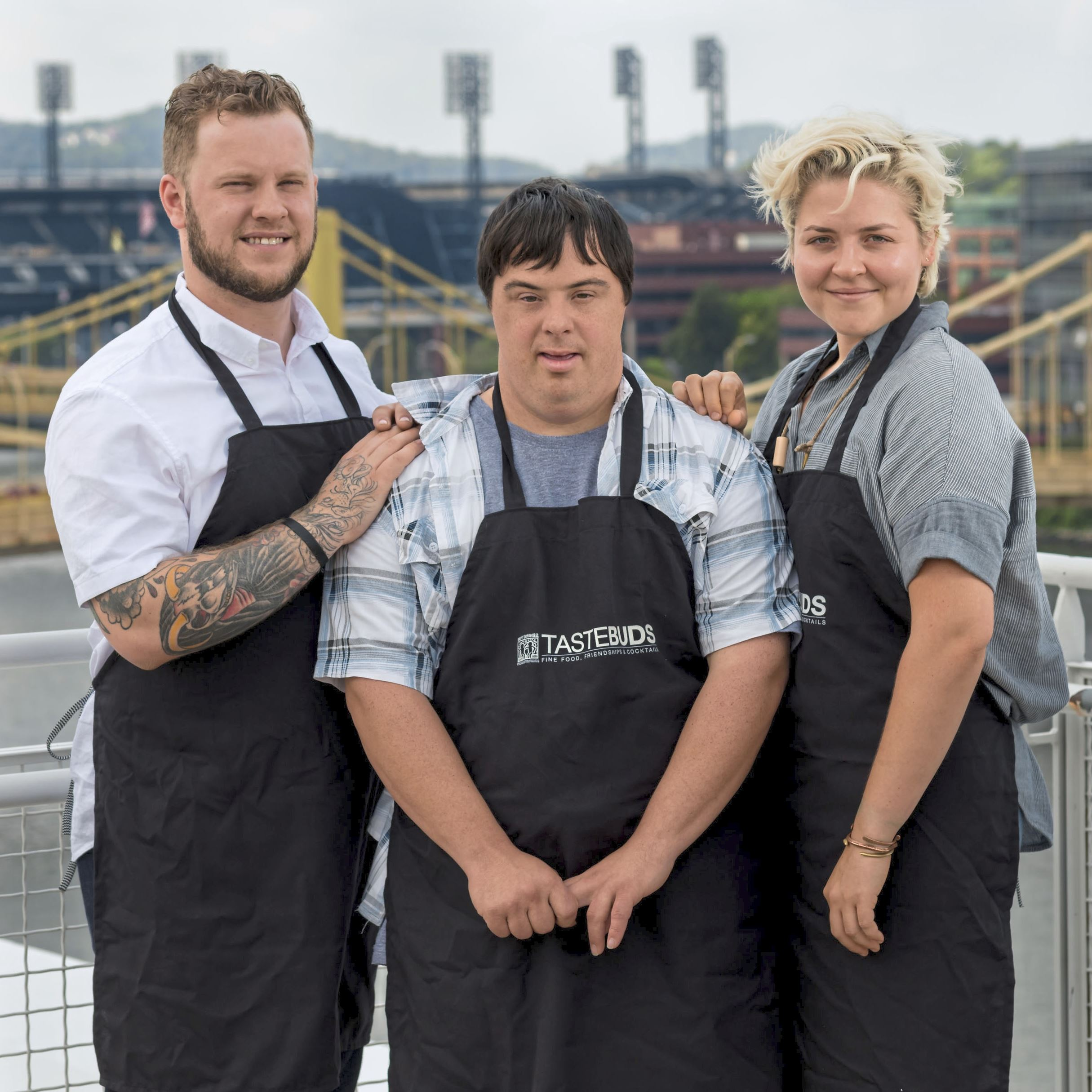 vandal tastebuds-2 Joey Hilty, left, and Csilla Thackray of Vandal, right, will cook with John Mozeik (center) at Tastebuds in November.